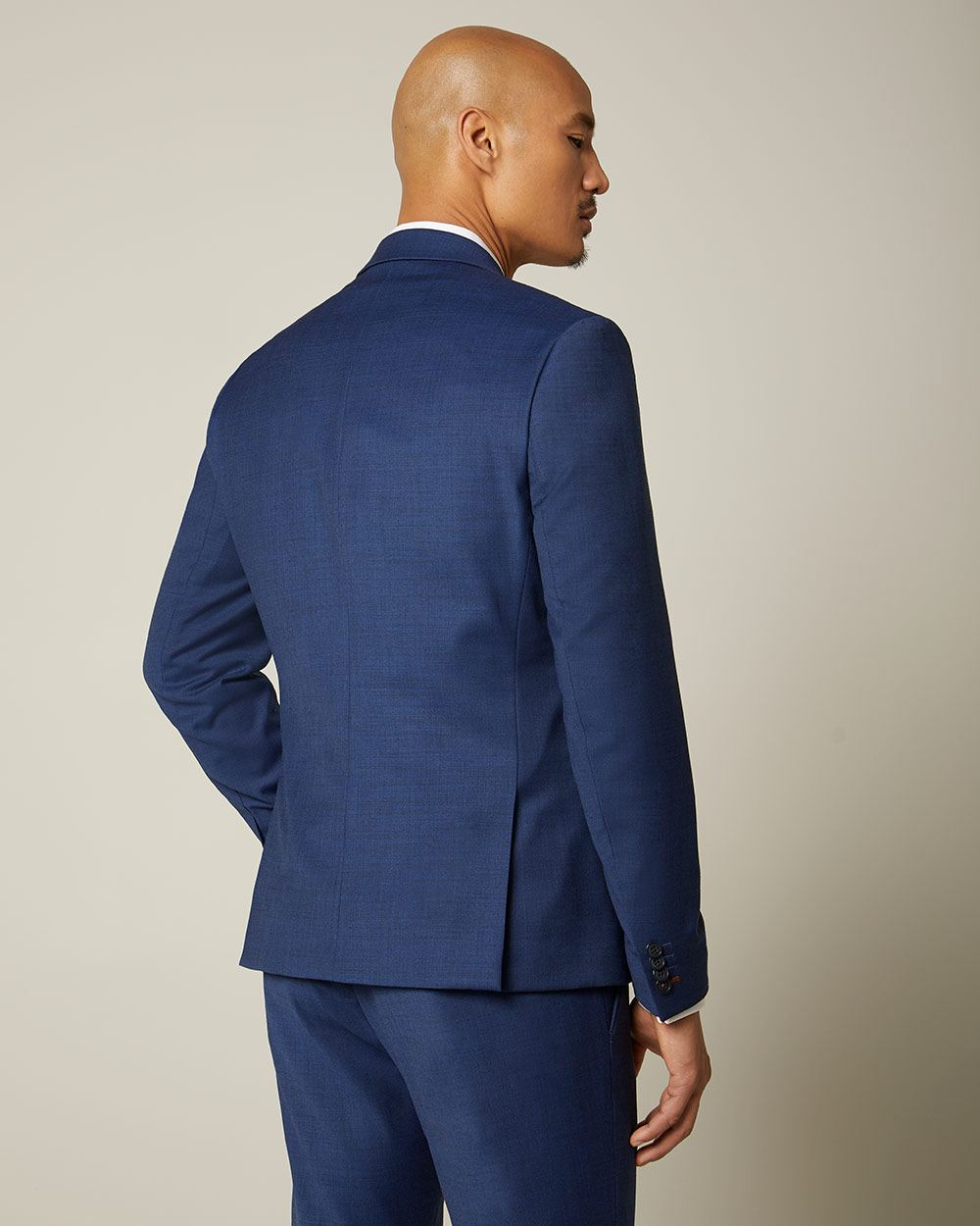 Slim Fit blue wool-blend suit Blazer