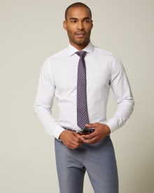 Slim fit mini dot dress shirt