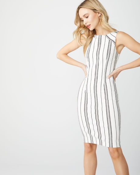 Black and white stripe Sheath City dress