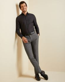 Slim fit marled grey City Pant