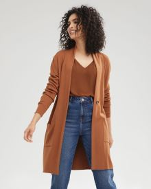 One-Button Cardigan with Pockets