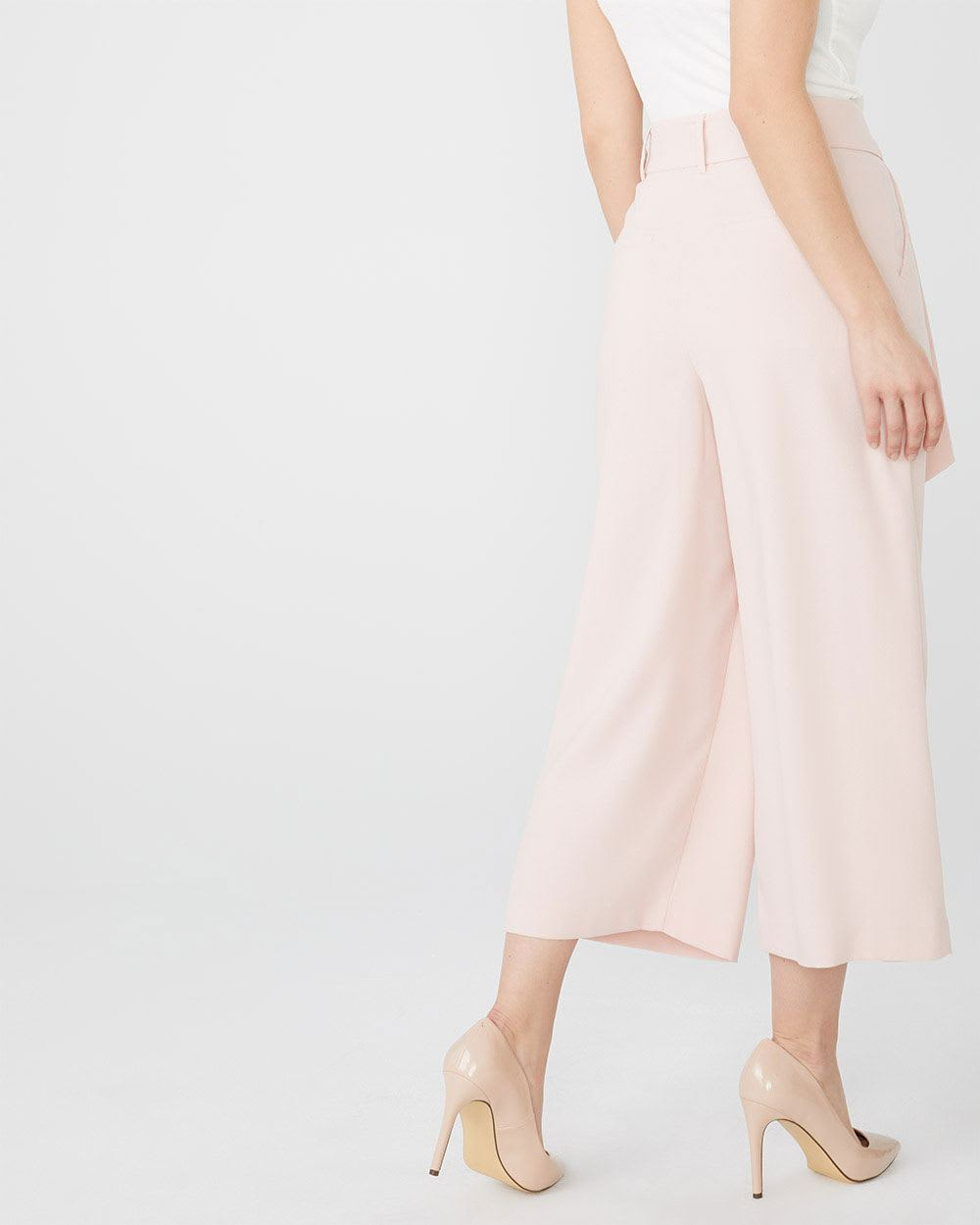 High-waist Cropped wide leg pant
