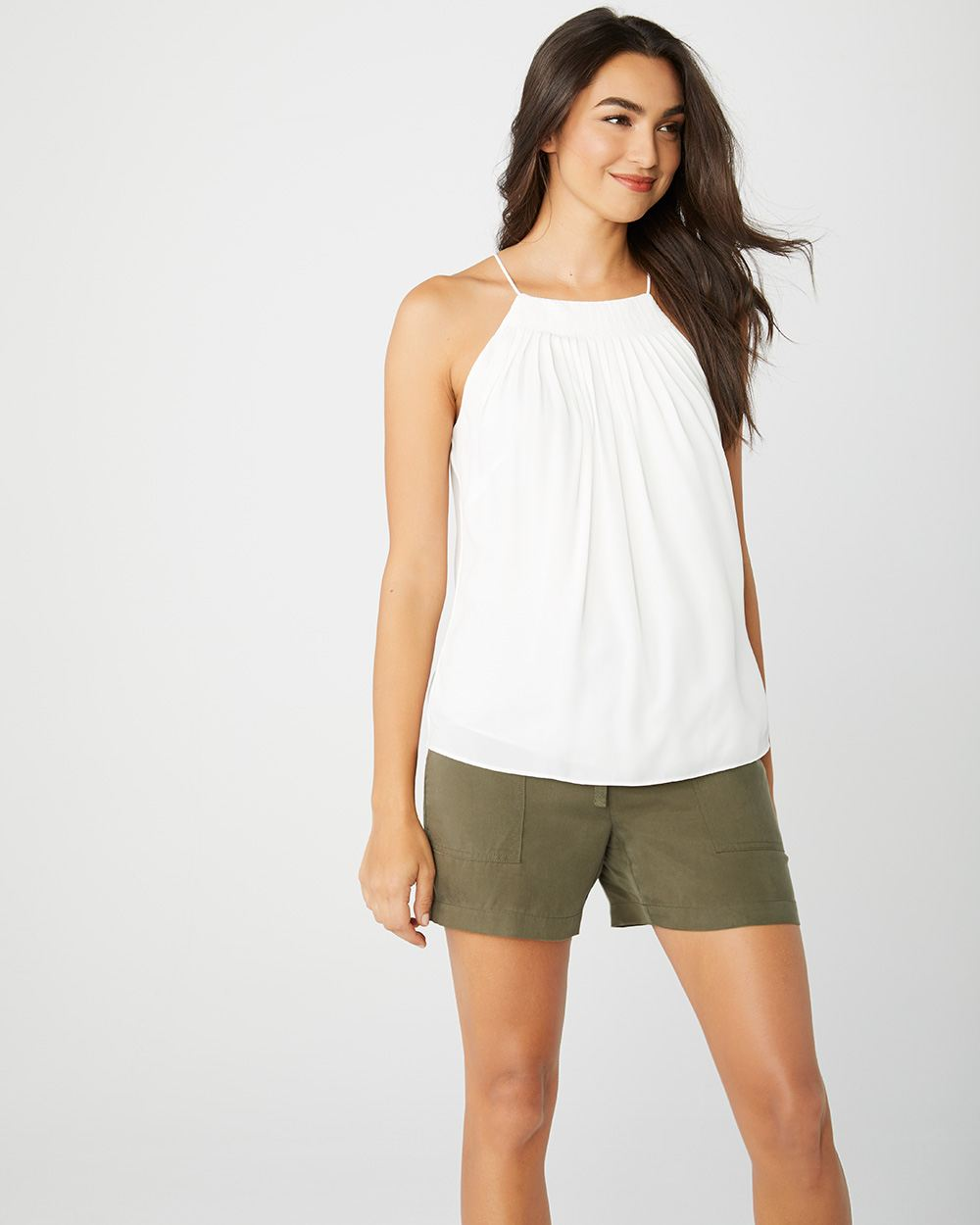Pleated Halter cami top