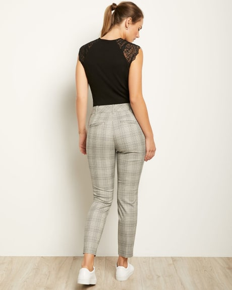 Grey Check Fit Slim Leg Ankle Pant