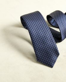 Regular Patterned navy tie