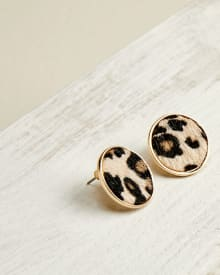 Textured cheetah earrings
