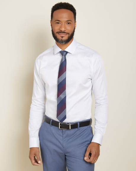 Slim Fit Micro Geo shape Dress Shirt