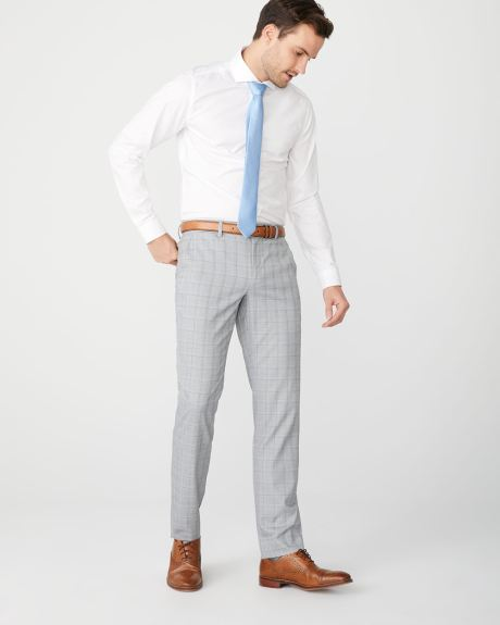 Slim fit light grey check City Pant