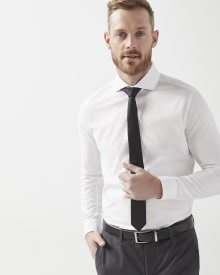 Tailored fit white dress shirt