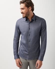 Slim fit Stretch cotton-blend shirt
