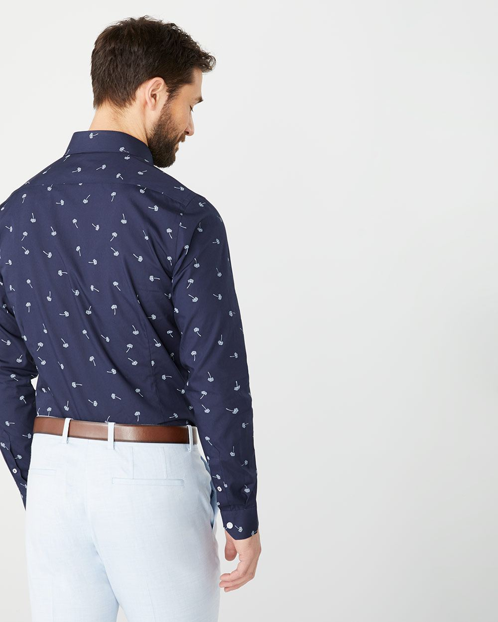 Slim Fit dandelion print dress shirt