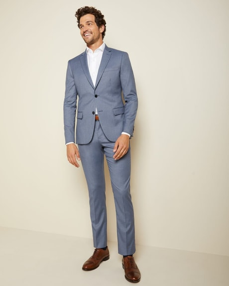 Slim Fit steel blue suit pant