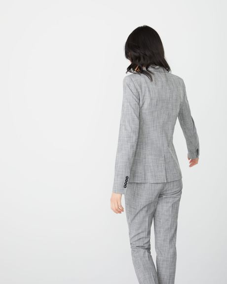 grey crosshatch Fitted blazer