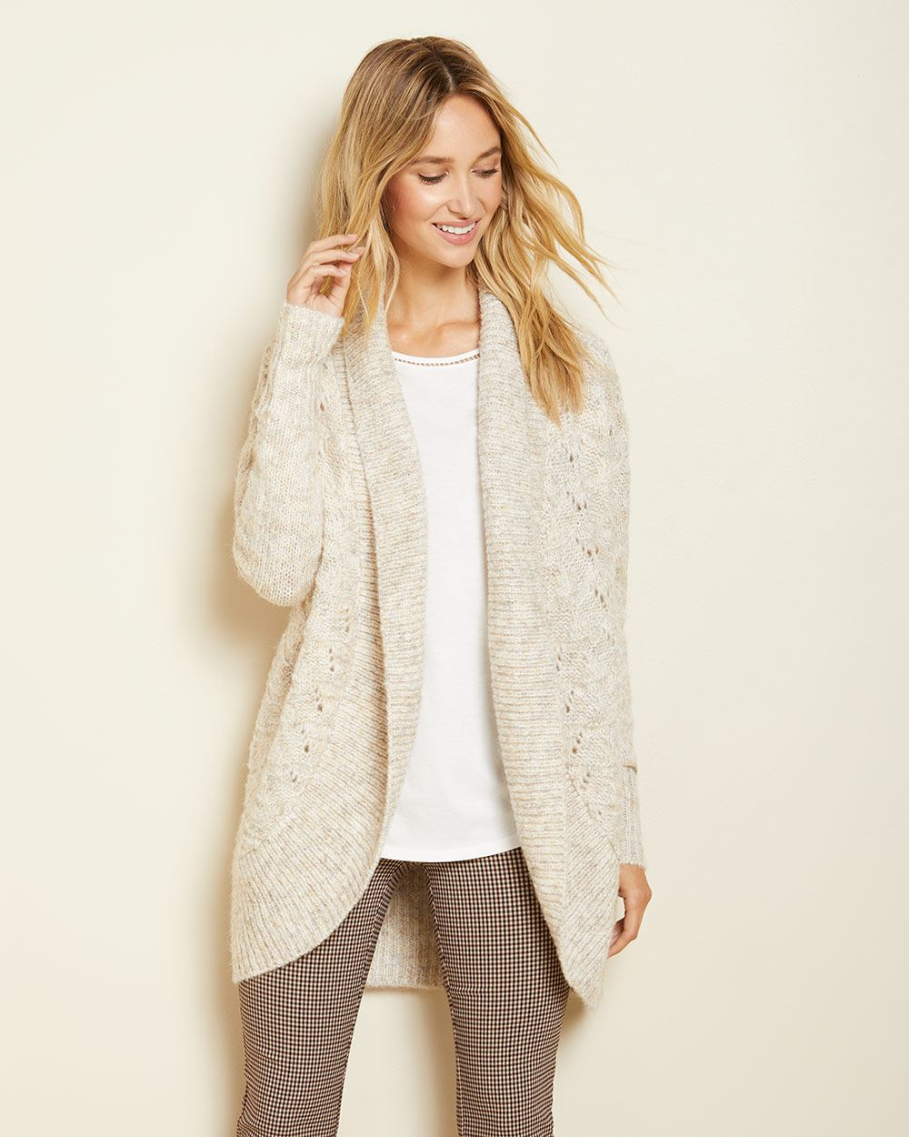C&G Hairy knit Cocoon cardigan