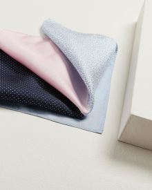 4-way colour block pocket square