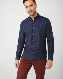 Tailored fit red dot shirt