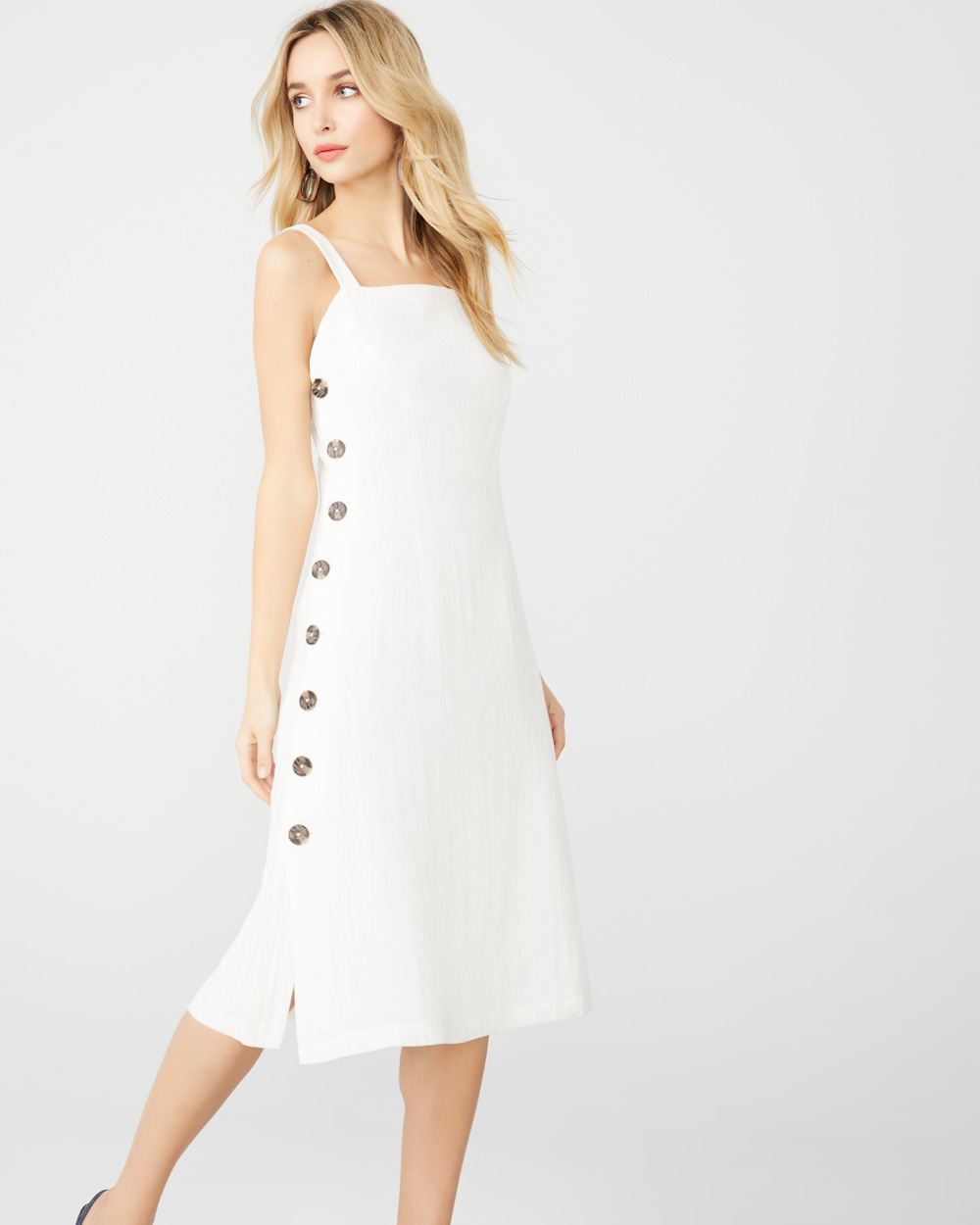 6a08a516b62 White Midi dress with buttons | RW&CO.