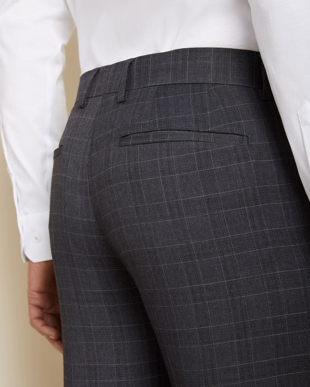 Tailored Fit tonal grey check suit pant