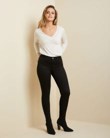Natalie Mid-rise ankle jegging in black denim