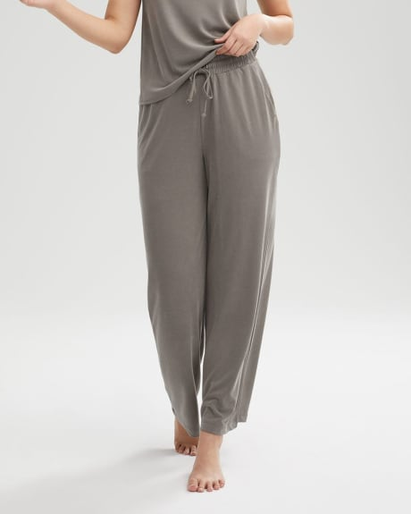 Pull On Wide Leg Loungewear Pant with Drawstring