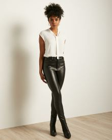 High-waisted Skinny Faux Leather Pant