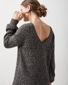 Long sleeve nepped sweater dress