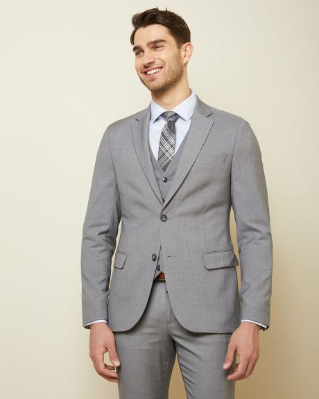 Essential Slim Fit stretch light grey suit Blazer