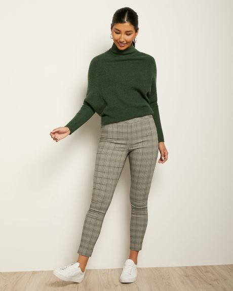 C&G High-Waist Green Plaid City Legging - 28''