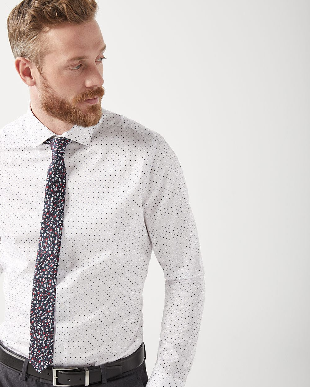 Tailored Fit Micro Lozenge Dress Shirt Rwco