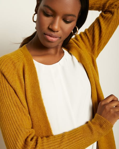 C&G Ribbed Spongy Knit Cardigan