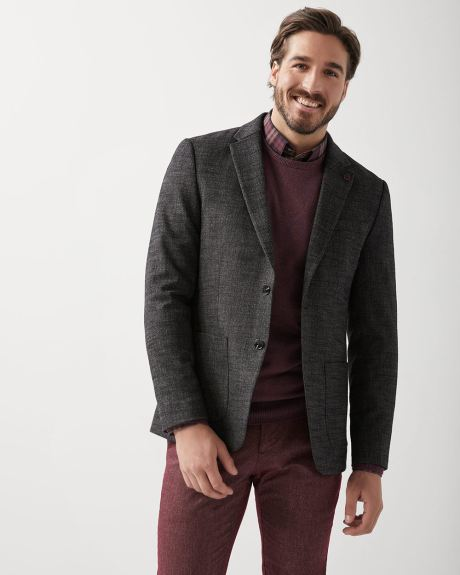 Slim Fit crosshatch blazer
