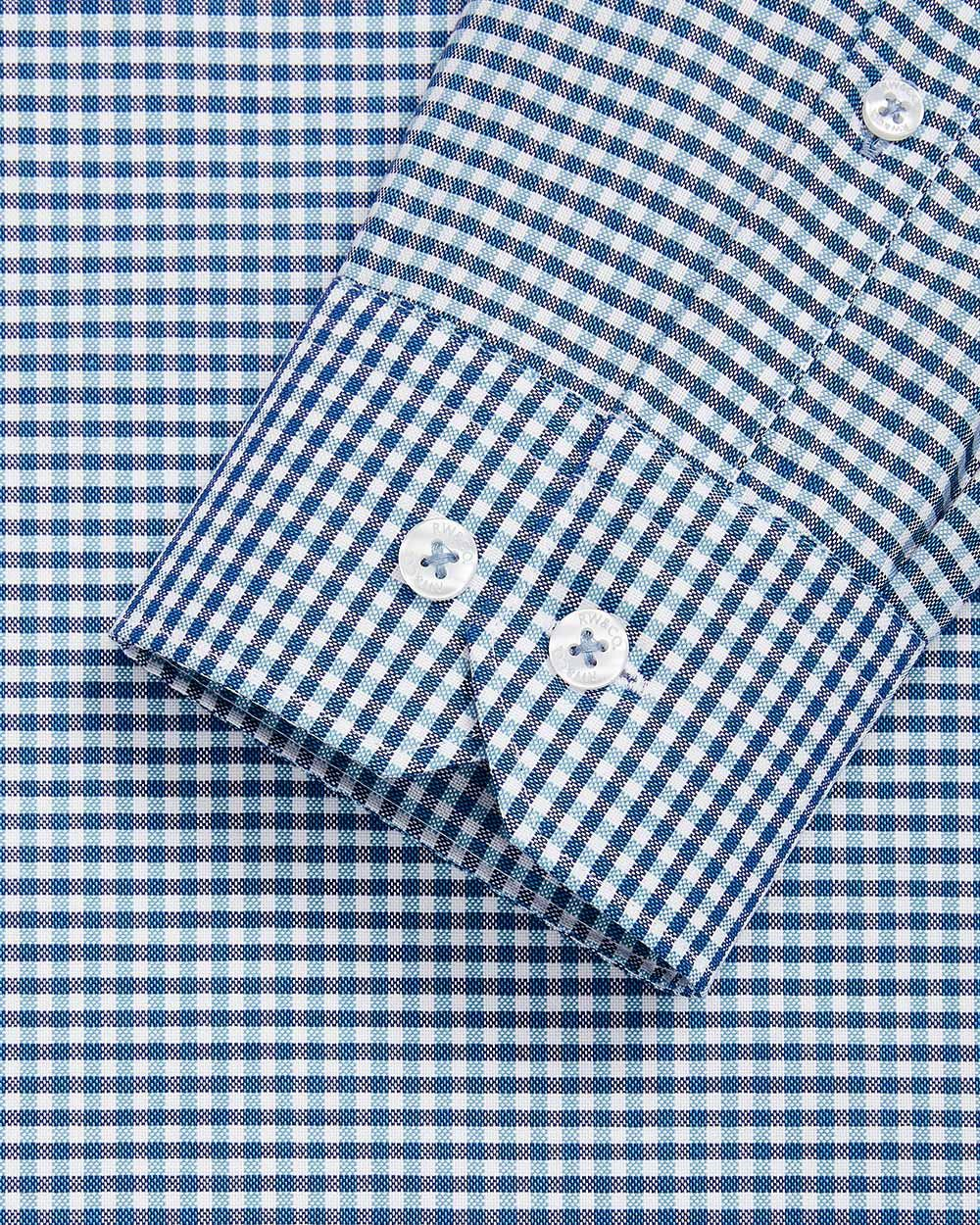 Athletic Fit blue vichy dress shirt