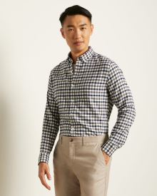 Tailored Fit Gingham Shirt