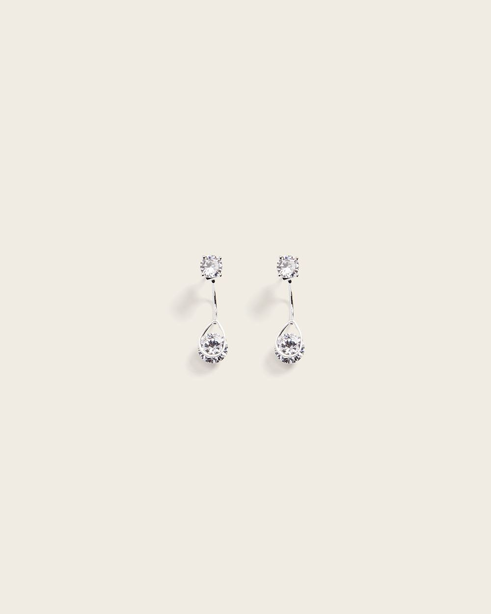 crystal front and back earrings