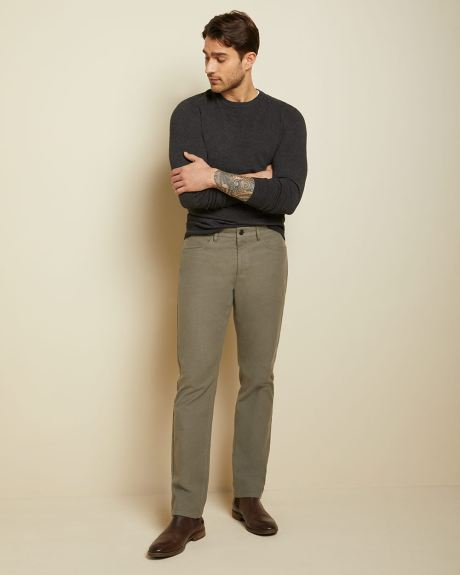 Straight fit moleskin 5-pocket pant