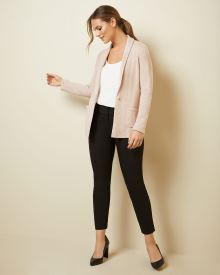 Shawl-collar knit blazer