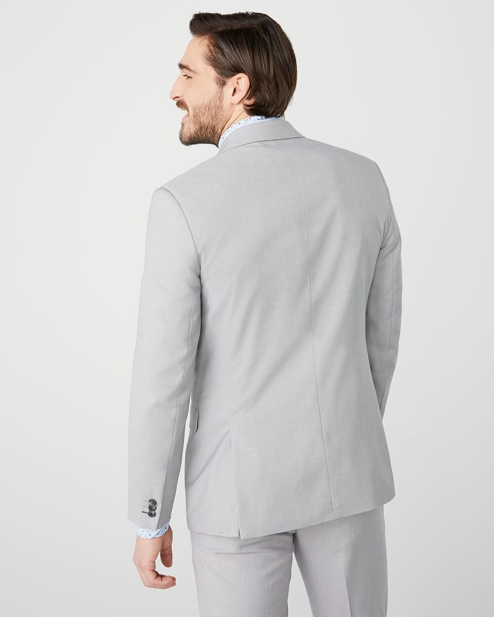 Essential Tailored Fit light heather Grey suit Blazer