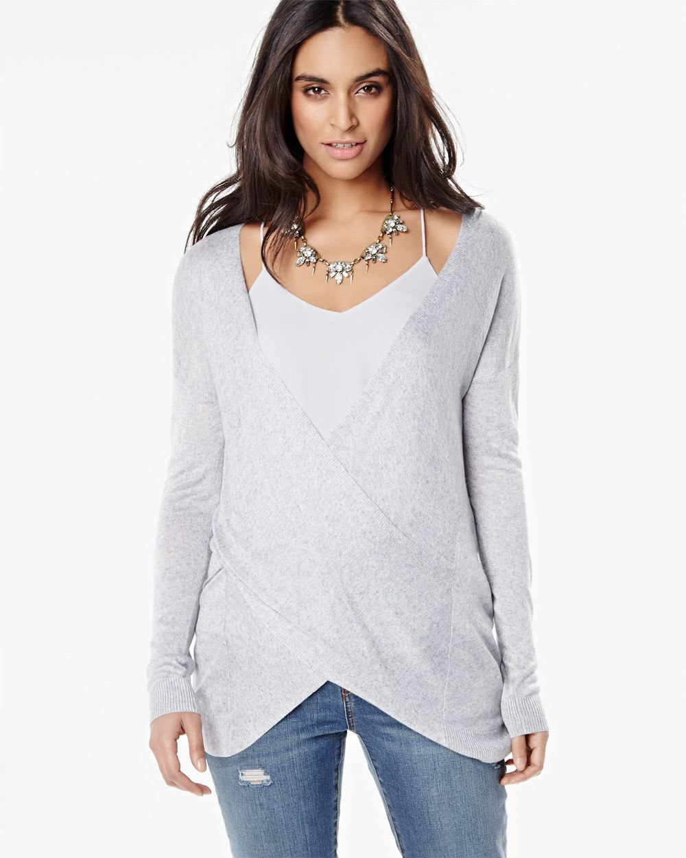 Shop long sleeve wrap sweater at Neiman Marcus, where you will find free shipping on the latest in fashion from top designers.