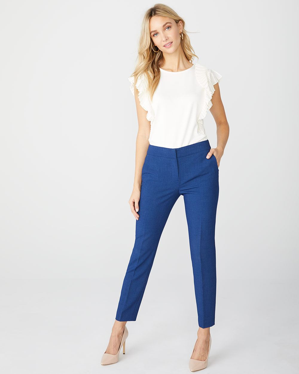 Cobalt blue Signature fit Slim Leg Ankle Pant
