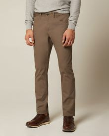 Slim fit Textured cotton-blend 5-pocket pant