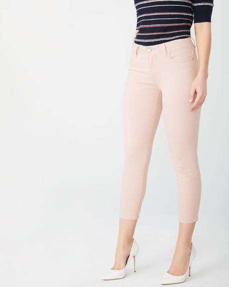 Natalie crop Mid-rise jegging in coloured denim