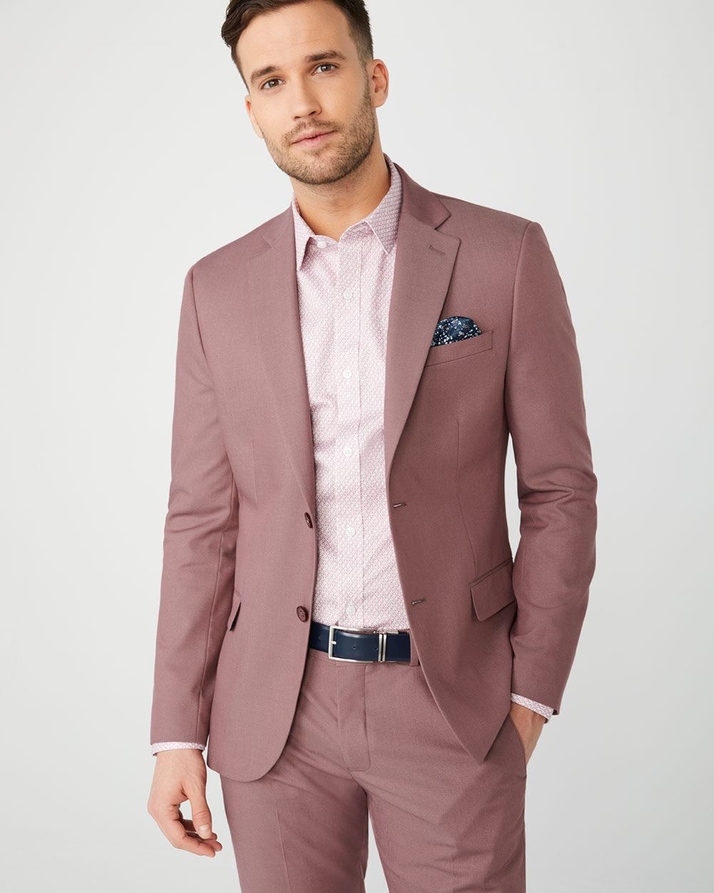 35b1c773 Slim Fit Pink suit Blazer | RW&CO.