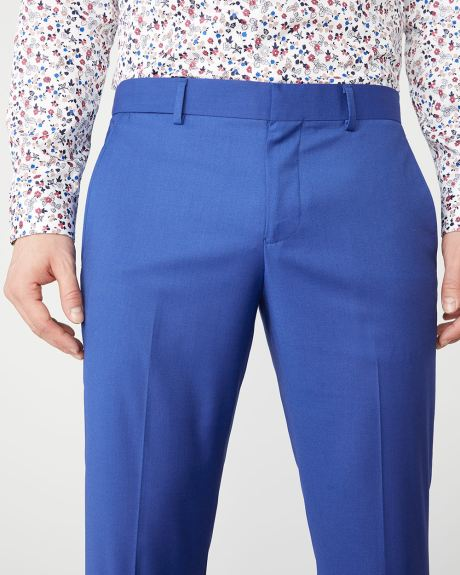 Slim fit bright blue suit pant - Short