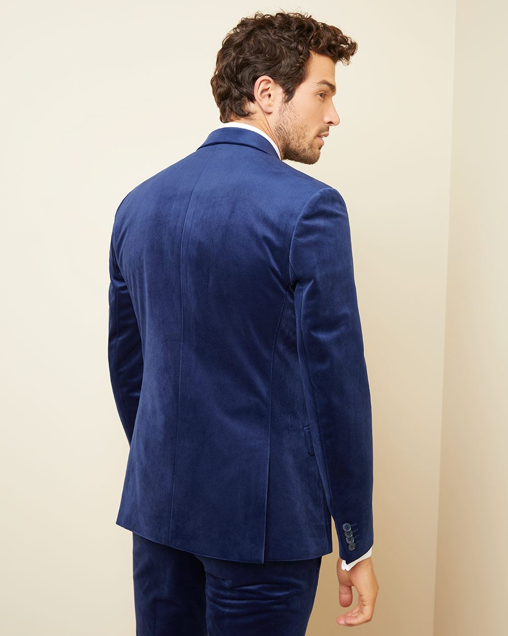 Slim fit velvet suit blazer