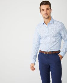 Slim Fit mini floral dress shirt