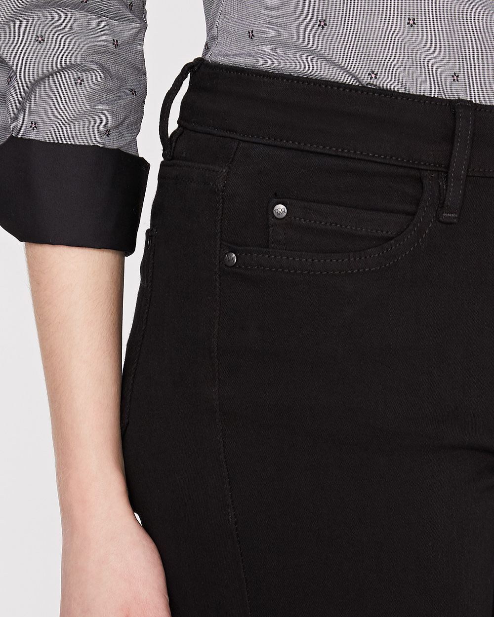 High-waisted extreme 360 stretch black skinny jeans