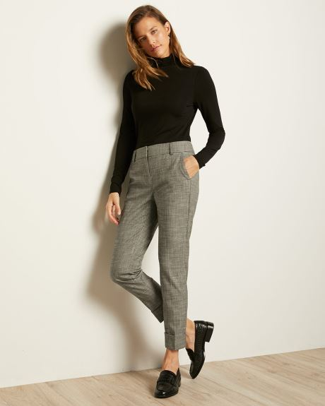 Houndstooth Flannel Signature Fit Slim Leg Ankle Pant