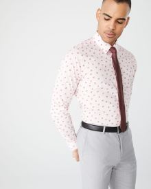 Athletic Fit seashell print Dress Shirt