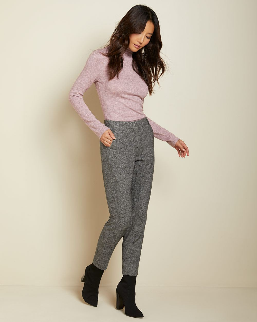 Grey tweed Slim Leg Ankle Pant