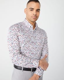Athletic Fit small floral dress shirt